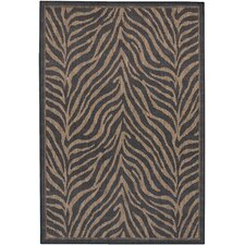 Recife Black Zebra Indoor/Outdoor Area Rug