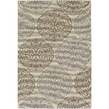 Five Seasons Cream & Sky Blue Montecito Area Rug
