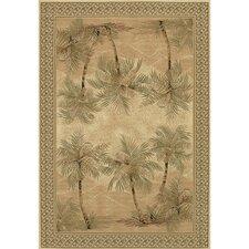 Everest Palm Tree Desert Sand Floral Area Rug