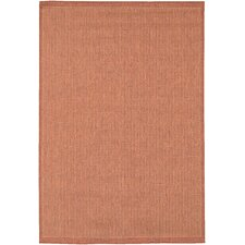 Recife Saddle Stitch Terra Cotta Indoor/Outdoor Area Rug