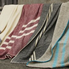 Striped Wool Throw Blanket