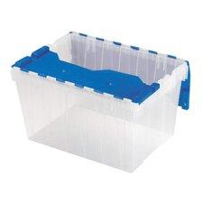"""Keep Box, 12-Gallon, 15""""x21-1/2""""x12-1/2"""", Clear/Blue"""