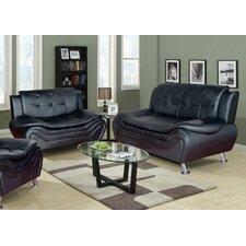 Linda Leather Sofa and Loveseat Set