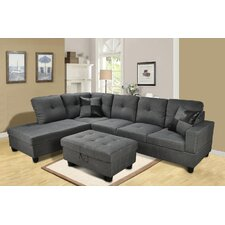 Della Chaise Living Room Sectional Set