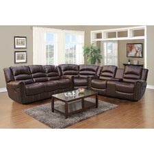 BurlingTon 3 Piece Bonded Leather Reclining Living Room Sectional Sofa Set