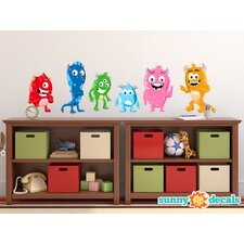 Cute Monster Fabric Wall Decal