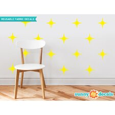 Retro Stars Fabric Wall Decal (Set of 22)