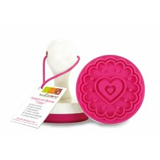 Heart Silicone Cookies and Fondant Stamp