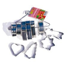 10 Piece Stainless Steel Christmas Cutters Set
