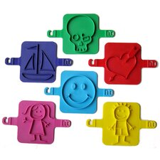 6 Piece Beach Stamp Set