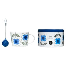 3 Piece Daisy Tea Set