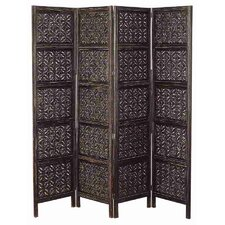 "80"" x 72"" Rustic Screen 4 Panel Room Divider"
