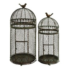 Rustic Metal Free Standing Bird Cages