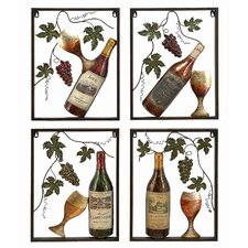 Toscana Wine Wall Décor (Set of 4)