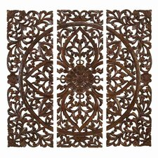 3 Piece Toscana Carved Wall Décor Set