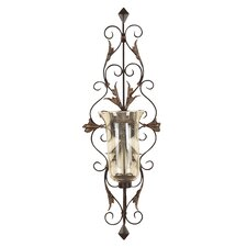 Toscana Dancing Light Metal Glass Sconce