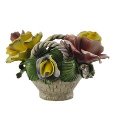 Capodimonte Oval Flower Basket