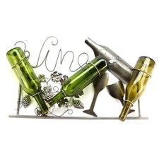 """Wine"" 3 Bottle Wall Mounted Wine Rack"
