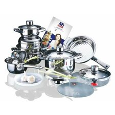 Millerhaus 17-Piece T304 Stainless Steel Cookware Set