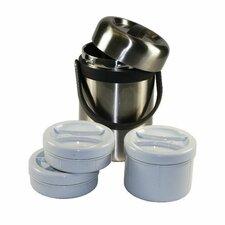 Zenlo 2 Liter Jumbo Bento Stainless Steel Vacuum Lunch Box Food Container