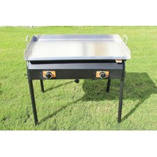 Griddle Grill with Automatic Igniter Double Burner Stand/Flat Top