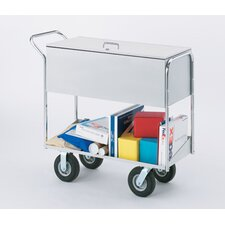 Long Solid File Cart with Locking top and Tires