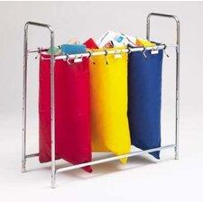 Stationary 3 Bag Holder Mailbag Rack