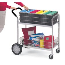 Medium Wire Basket File Cart with Cushion Grip