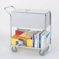Security Medium File Cart with Casters and Locking Top