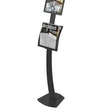 Contemporary Sign Stand Magazine Holder Add-On Pocket
