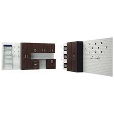 28' H x 6' W 1.5' D 12-Piece Garage Cabinet System