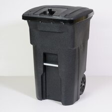 Bear Proof Residential Heavy Duty Two Wheeled Trash Container Cart with Attached Bear Tight Lid