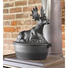 Cast Iron Moose Steamer Fireplace Tool