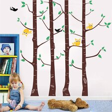 Owl and Tree Wall Decal