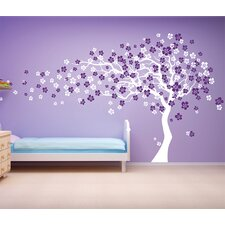 Cherry Blossom Tree Removable Vinyl Art Wall Decal