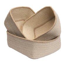 Natural Style 3 Piece Rectangle Nesting Basket Set