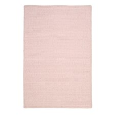 Simple Chenille Blush Pink Area Rug