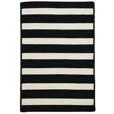 Stripe It Black & White Indoor/Outdoor Area Rug