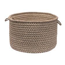 Natural Wool Houndstooth Storage Basket