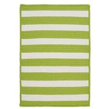 Stripe It Bright Lime Indoor/Outdoor Area Rug