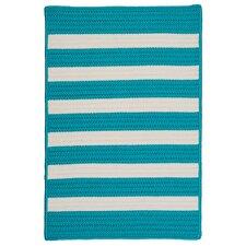 Stripe It Turquoise Indoor/Outdoor Area Rug