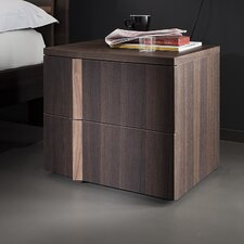 Tratto 2 Drawer Nightstand