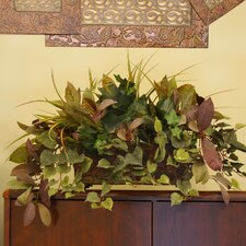 Mixed Silk Greenery Ledge Plant in Decorative Container