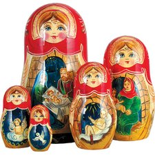 Russian 5 Piece Natvity Story Nested Doll Set