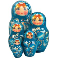 Russian 5 Piece Natasha Nested Doll Set