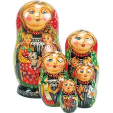 Russian 5 Piece Friends Forever Nested Doll Set