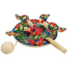 Animated Pecking Hen Toy Figurine