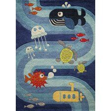 Lil Mo Whimsy Tufted Sea Creature Kids Area Rug