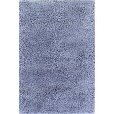 Comfort Shag Aqua Blue Area Rug