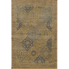 Belmont Checked Blue/Tan Area Rug